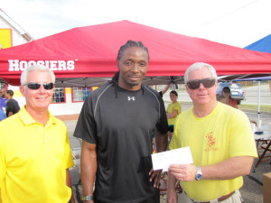 Former Notre Dame and NFL player, Deke Cooper, enjoying a strom and helping support local charity, 911 Gives Hope.